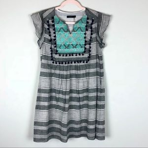 Anthropologie THML Gray Abstract Dress